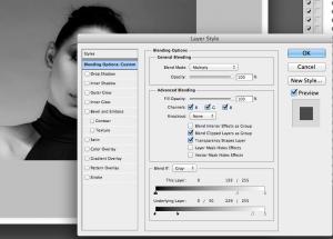 svartvitt porträtt Carr method